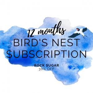 bird's nest rock sugar 12 month subscription