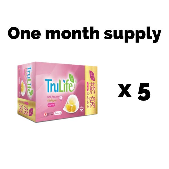bird's nest sugar free collagen one month supply