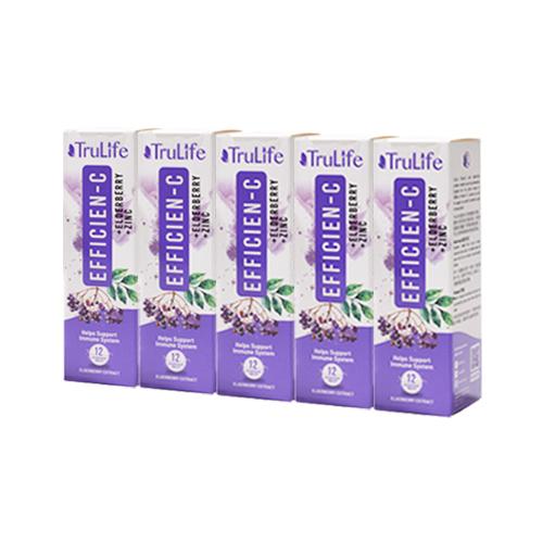 Efficien-C With Elderberry & Zinc 12's - Bundle of 5