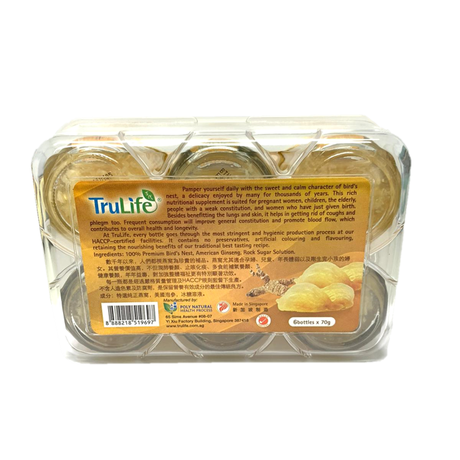 TruLife Premium Quality Bird's Nest With American Ginseng & Rock Sugar
